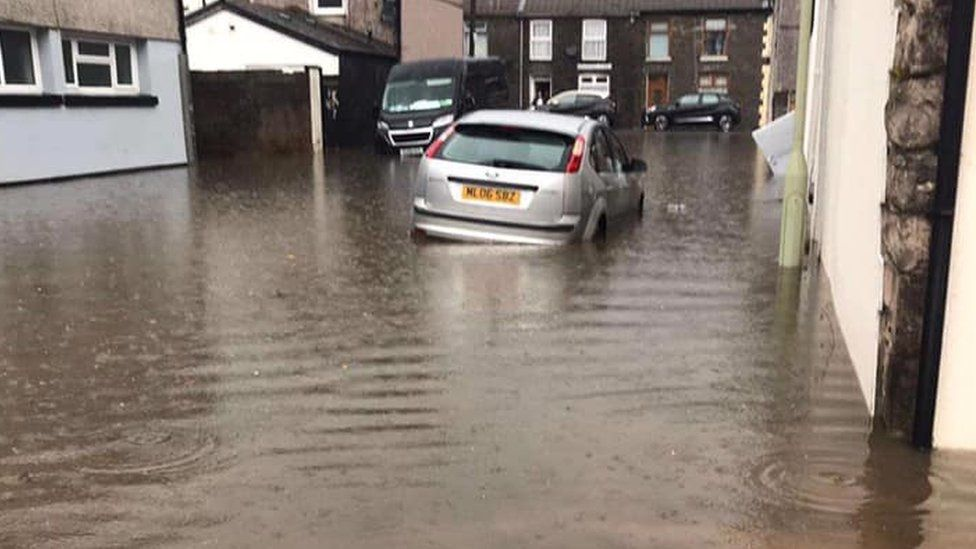 It is the third time some homes have been flooded this year