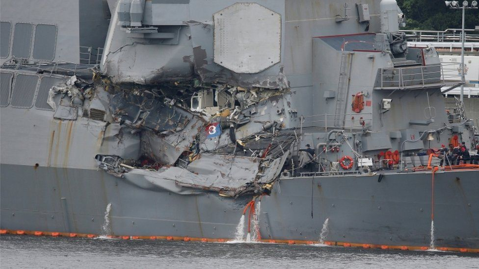 Damage to USS Fitzgerald, 18 June 2017