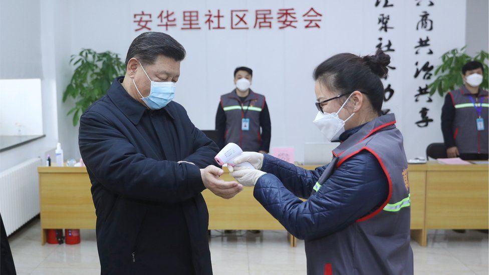 El presidente Xi ha mantenido un perfil bajo desde que empezó la crisis.