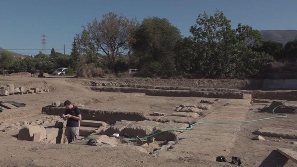 The site of the Sanctuary of Amarysia Artemis, Euboea