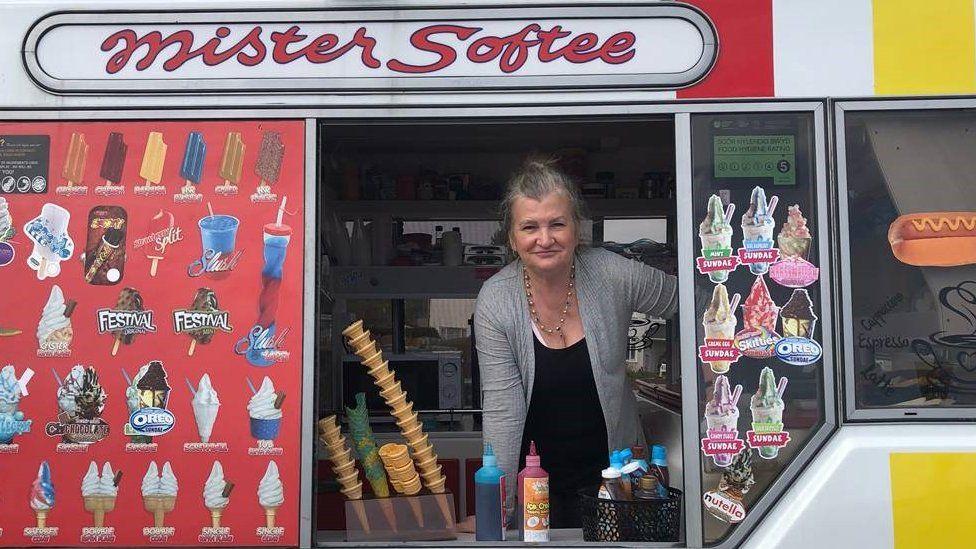 Pamela Davies, owner of Hollys Lollies in Porthcawl