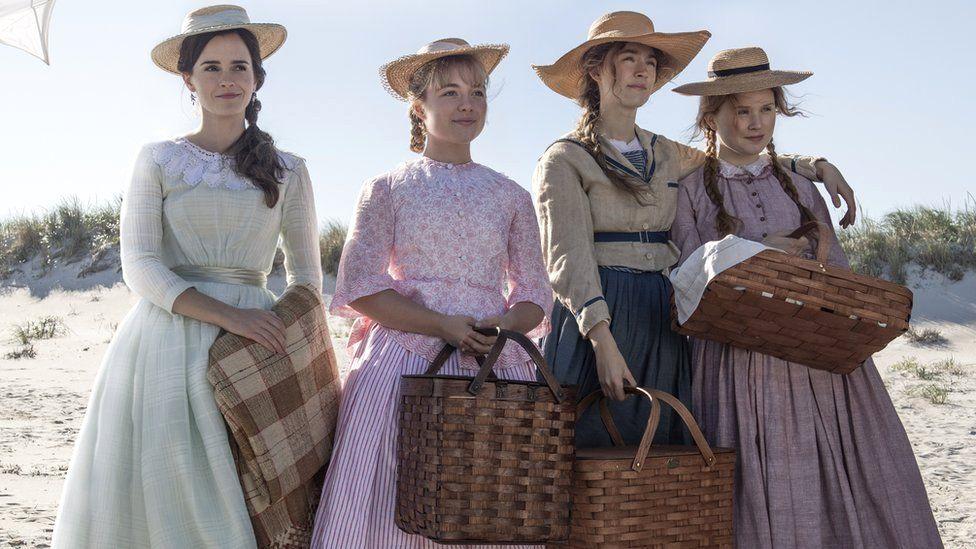 Emma Watson, Florence Pugh, Saoirse Ronan and Eliza Scanlon in Little Women