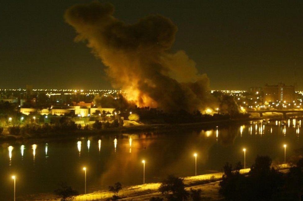 Air-raid on Baghdad, March 2003