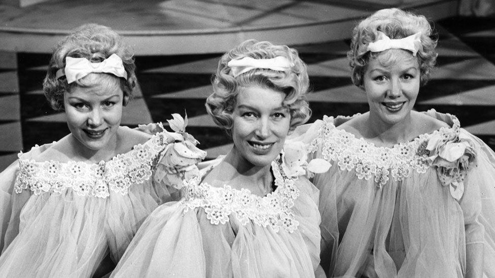 The Beverley Sisters - Teddie, Joy and Babs - in 1958
