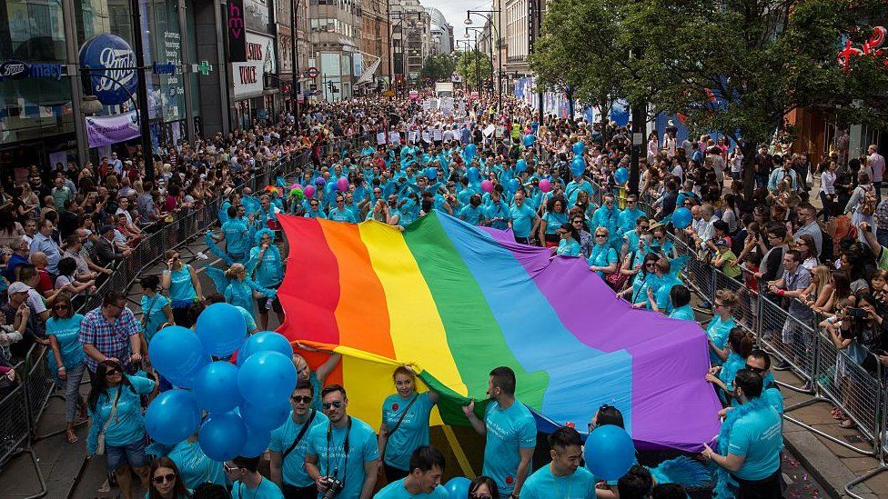 A scene from the Pride in London parade 2015