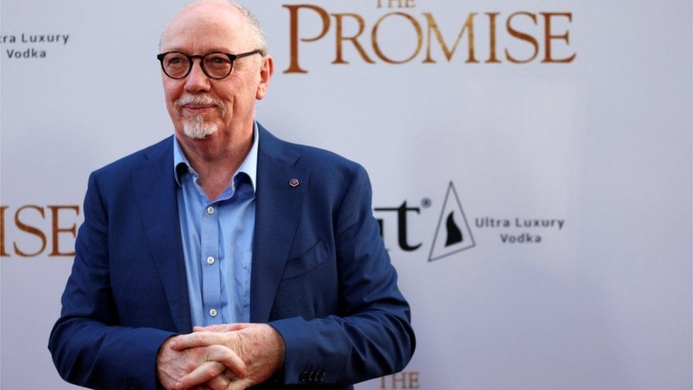 Terry George promoting his film, The Promise in Los Angeles