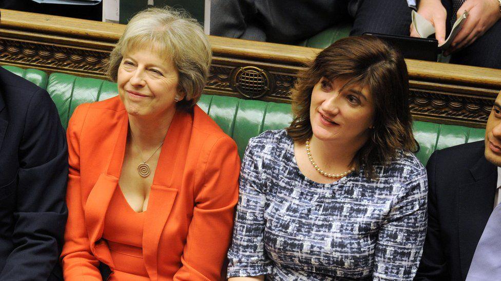 Theresa May and Nicky Morgan