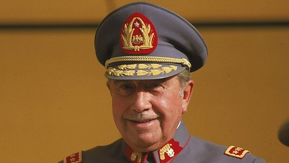Gen Pinochet in Santiago, 1983
