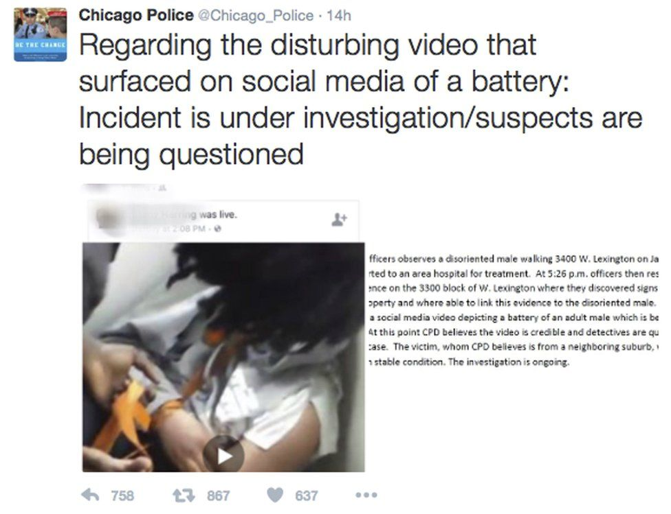 Chicago Police message