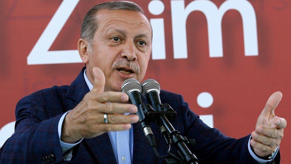 President Erdogan speaking in Istanbul, 5 Jun 16