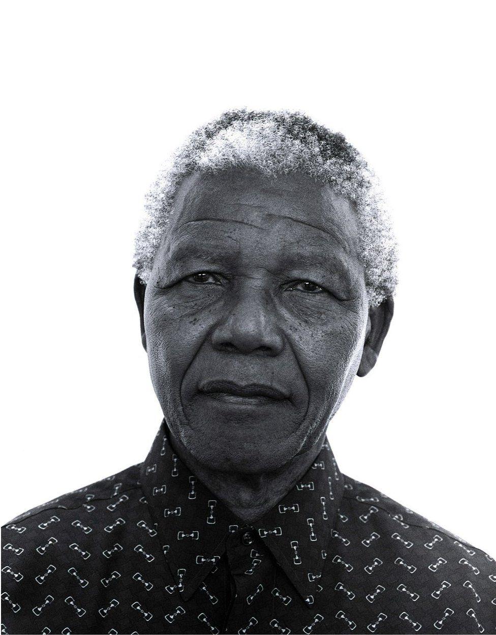 Jillian Edelstein's portrait of Nelson Mandela taken in 1997 at the Presidential house