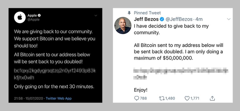 Apple and Jeff Bezos tweets