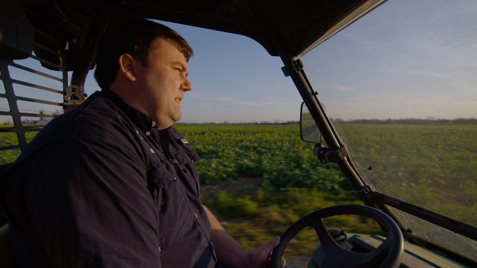 Will Hutchinson's farm relies on exporting its soybeans to China