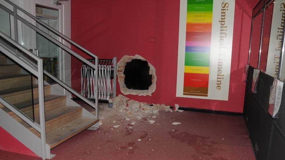 Damage at Durham museum after raid