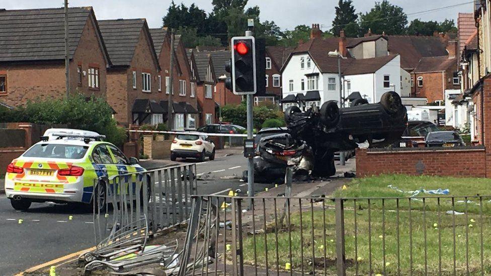Police officer hurt in Erdington pursuit crash