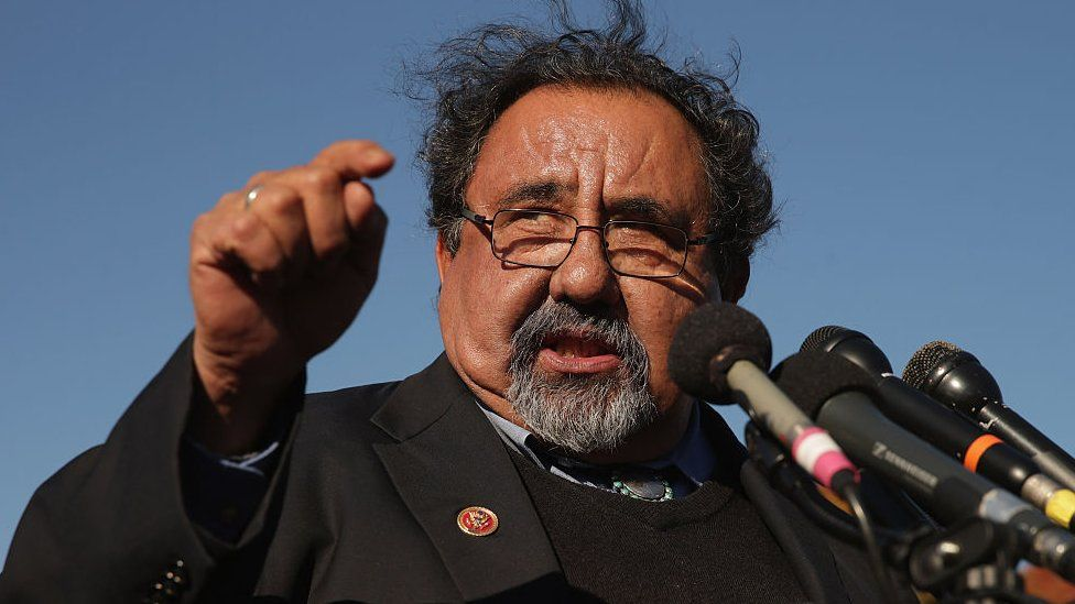 Raul Grijalva speaks at an immigration rally in 2014.