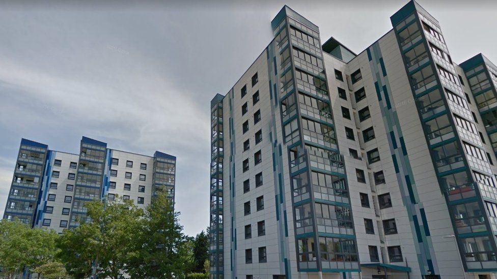 Sterte Court council-owned tower blocks