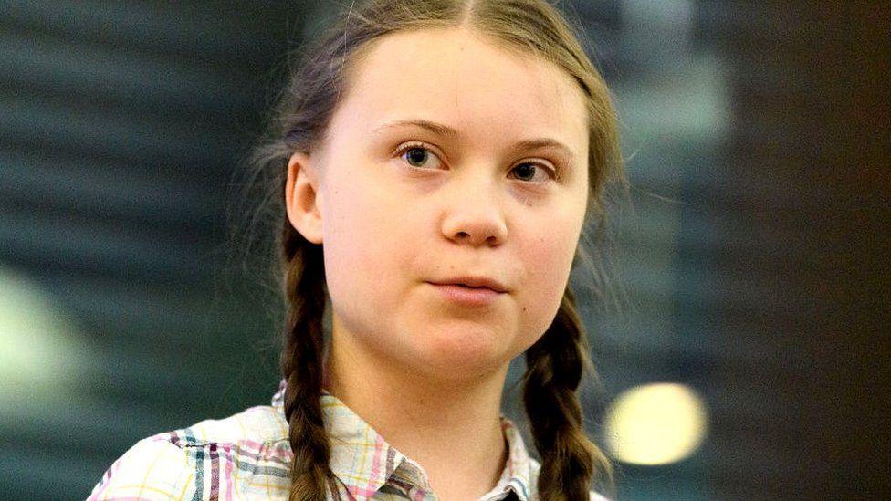 Greta Thunberg Swedish schoolgirl