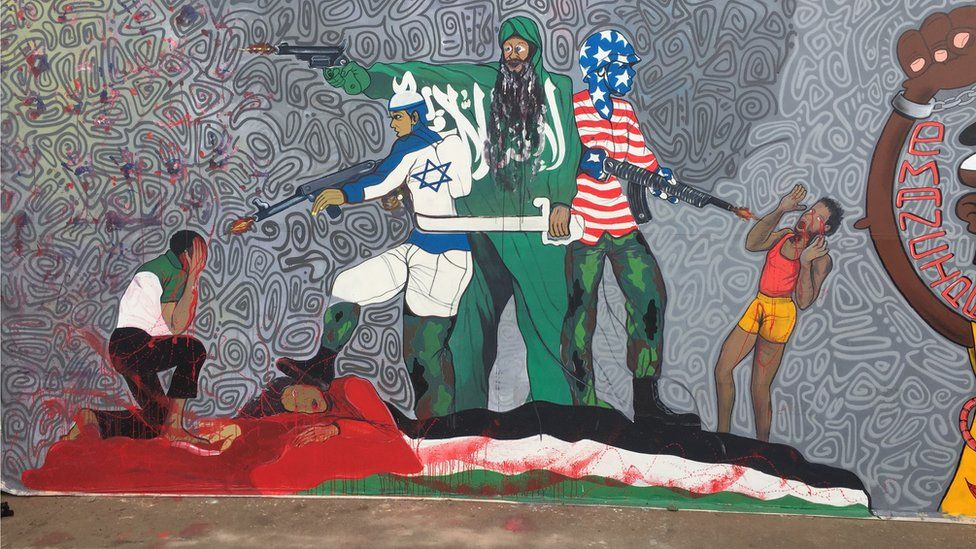 Work art depicting the conflict in Middle East