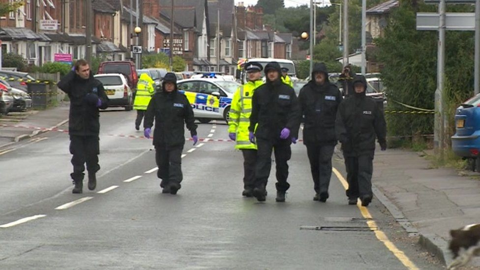 Police officers at the scene