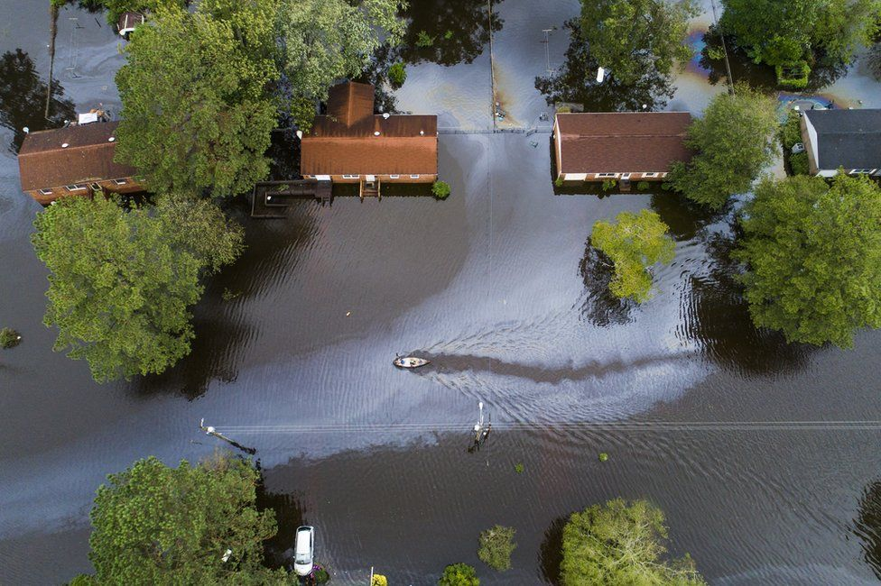 Flooding in New Bern, North Carolina, 15 September