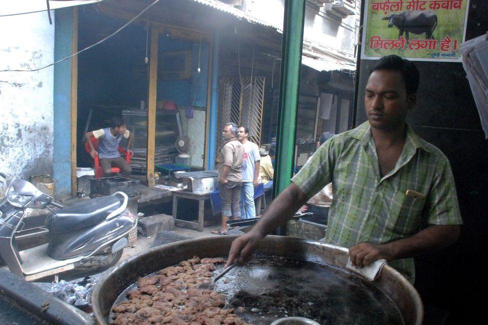 Beef kebabs in India