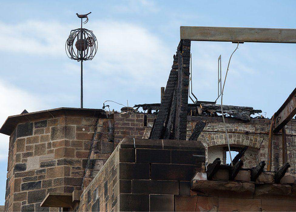 Fire-damaged Glasgow School of Art