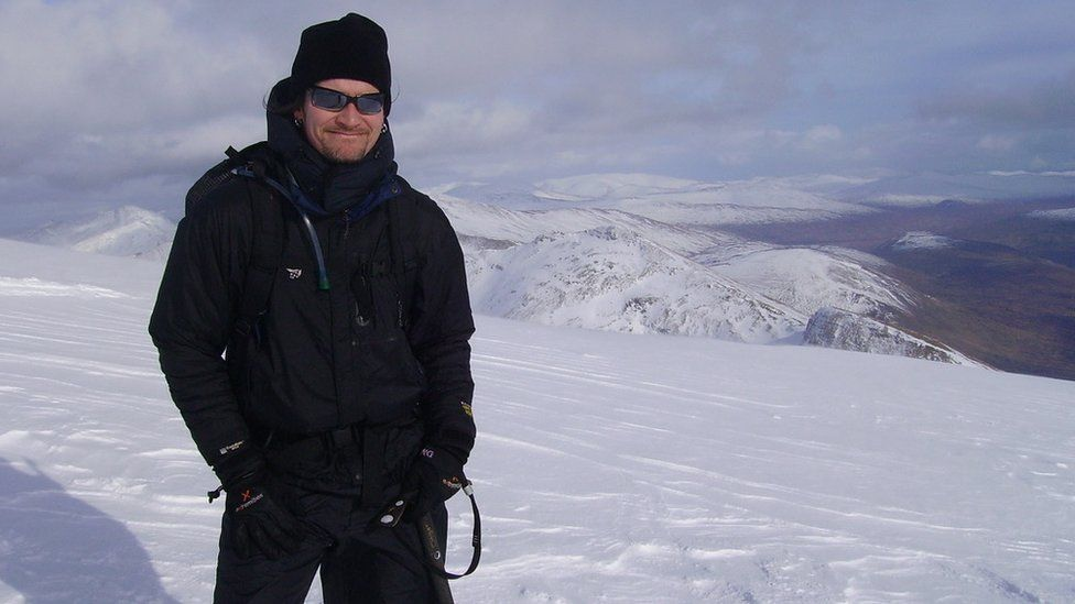 Undercover policeman Mark Kennedy on holiday in the Italian Alps