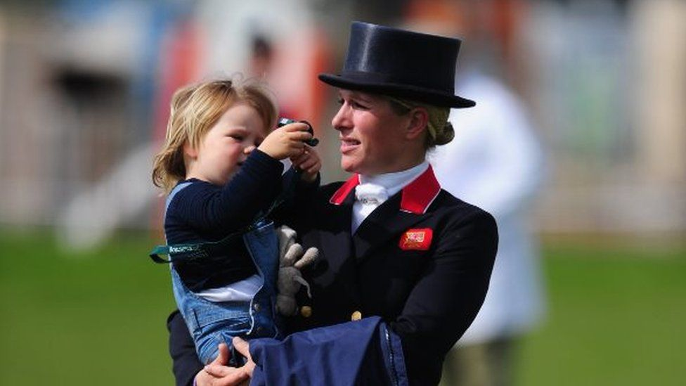 Zara Phillips and Mia Tindall at the Badminton Horse Trials in May 2016