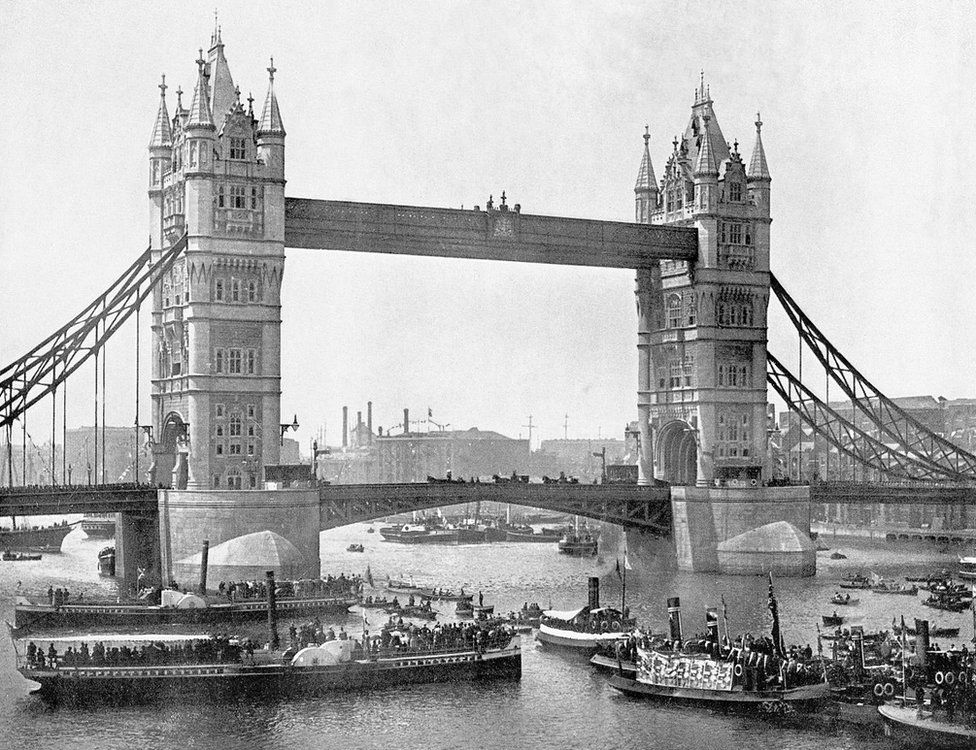 Tower Bridge in 1894