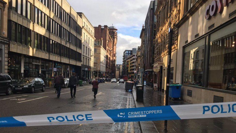 Police tape near scene