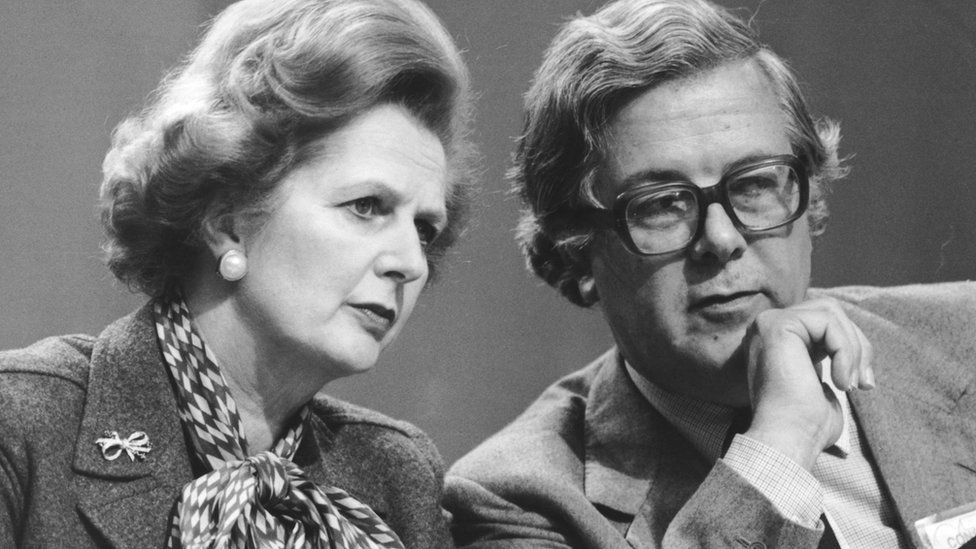 Lord Geoffrey Howe and Margaret Thatcher