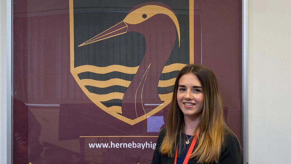 Herne Bay High School pupil, Isabella