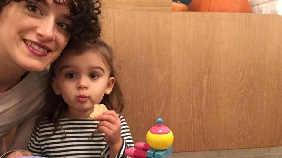 Lauren Tedaldi says her daughter prefers bright plastic toys