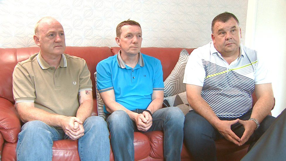 workmates Alex Rae, Kevan Knox and Ronnie Ranking