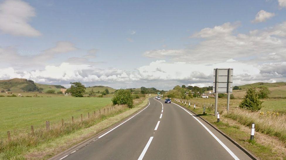 A75 near Shawhead