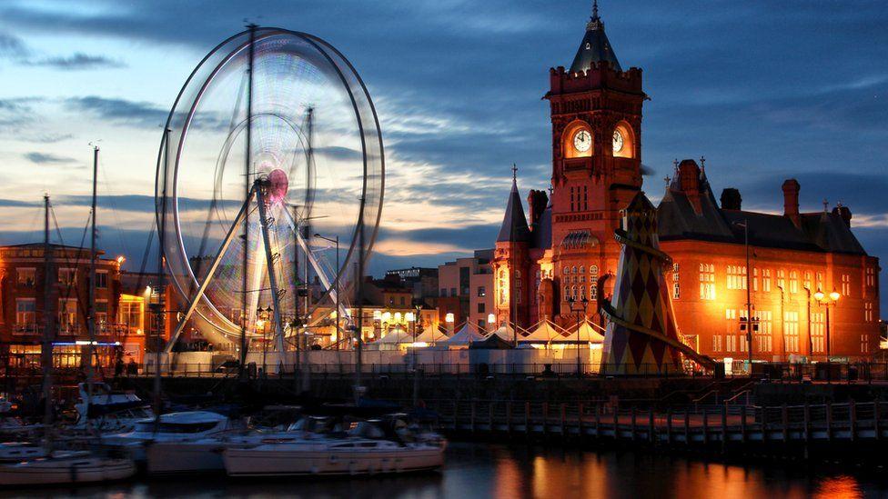 Cardiff at night
