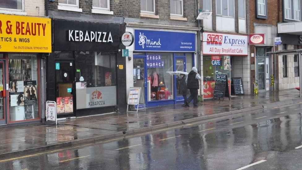 Shops on St Matthew's Street, Ipswich