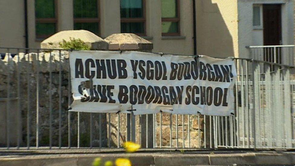 Ysgol Bodorgan sign