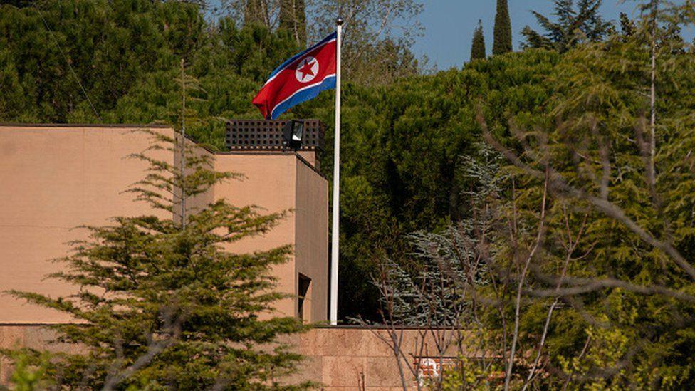 N Korea embassy raid in Madrid: 'US Marine arrested'