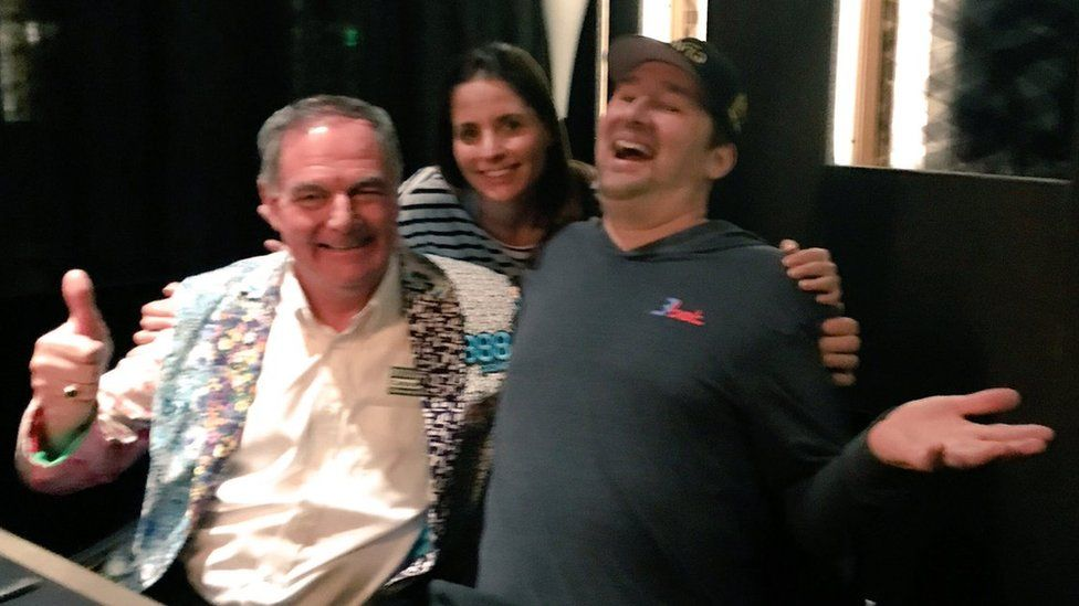John Hesp, Lizzy Harrison and Phil Hellmuth