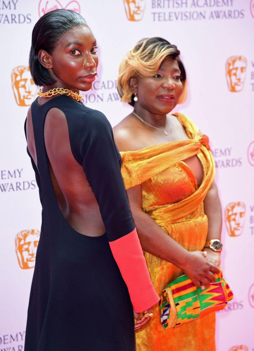 Michaela Coel and Kwenua Osborne
