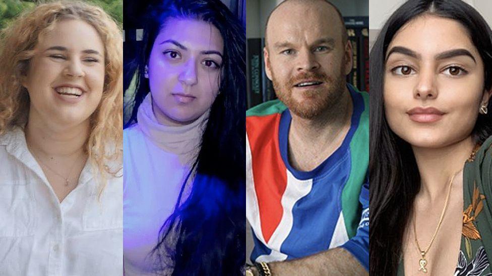 Hannah, Sharan, Philip and Adrisa