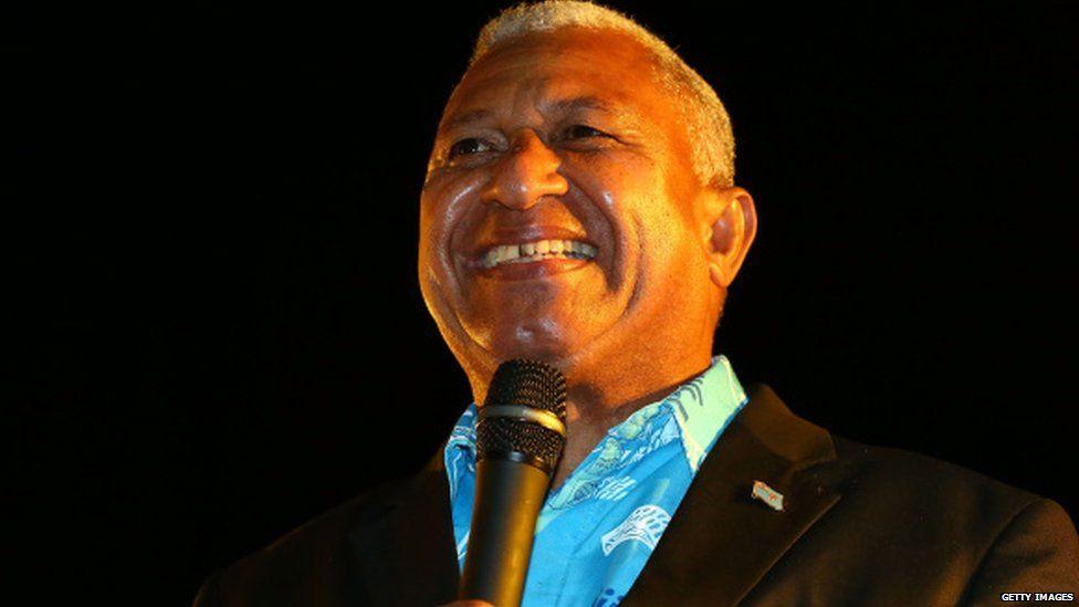 Fijian Prime Minister Frank Bainimarama