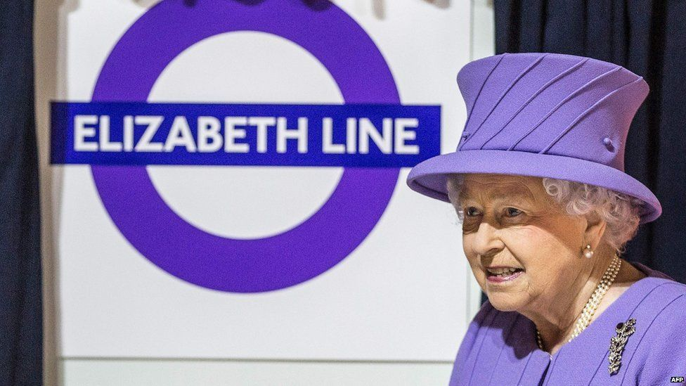 The Elizabeth Line with the queen