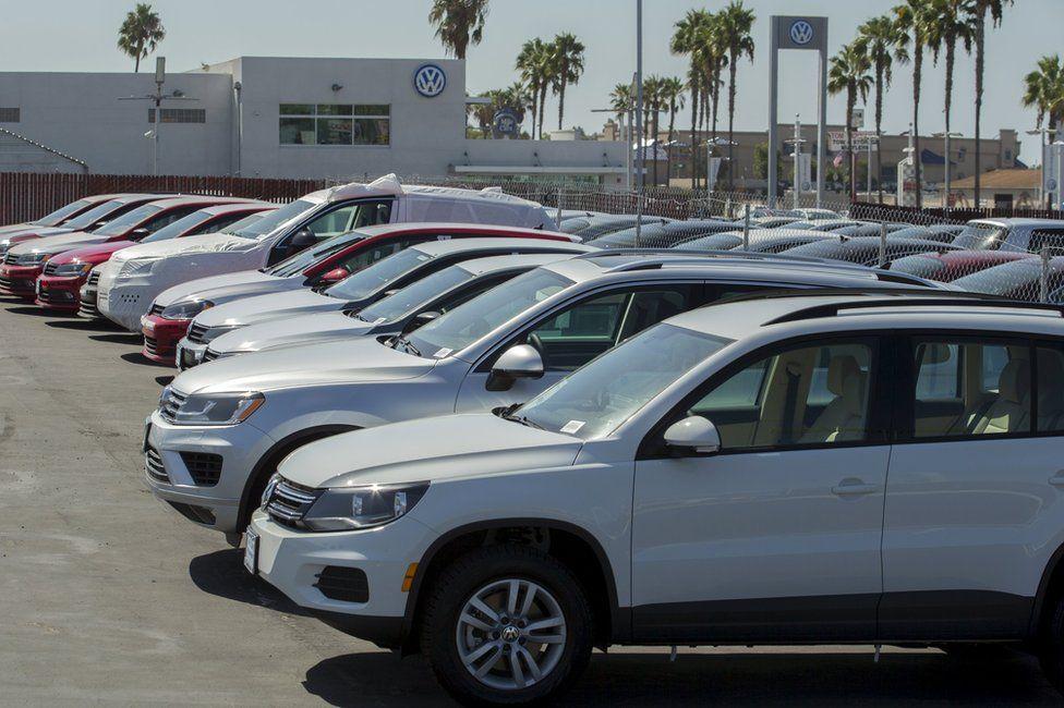 A Volkswagen car dealership in San Diego