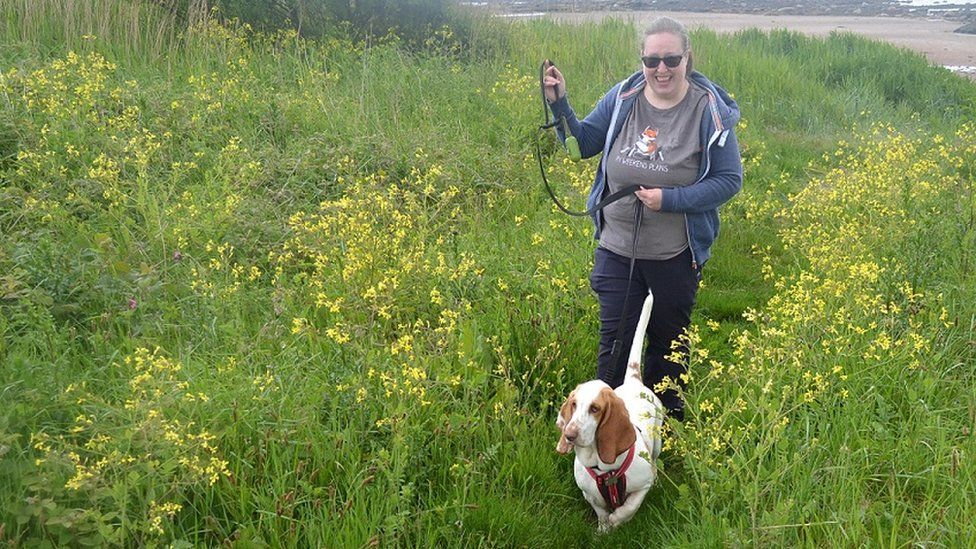 Michelle Keith and dog