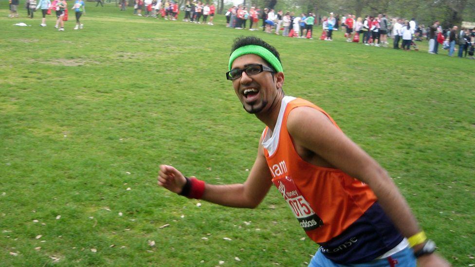 Shamal Waraich at the London Marathon