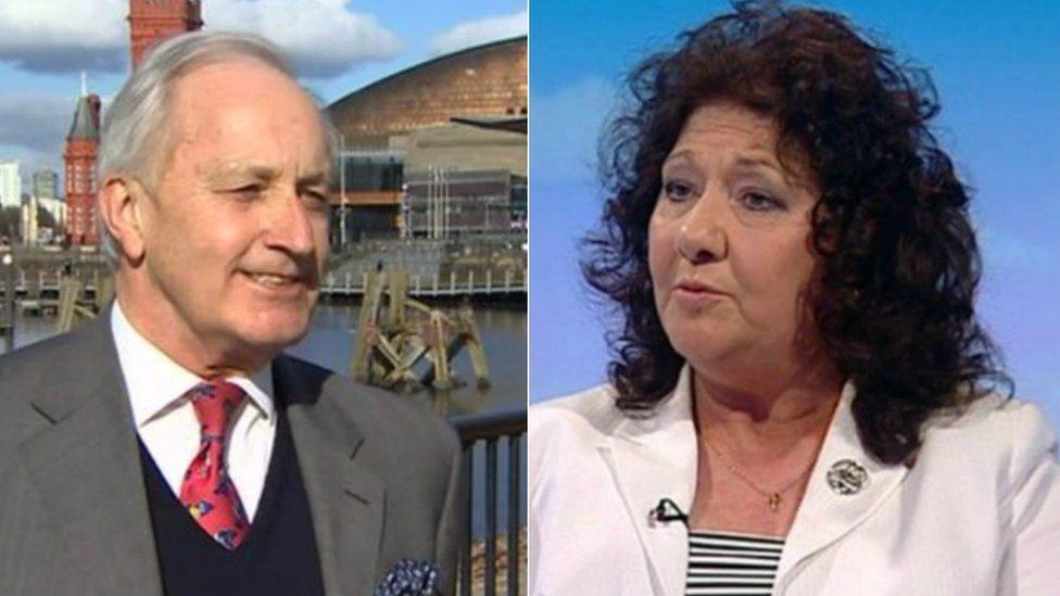 Neil Hamilton and Caroline Jones