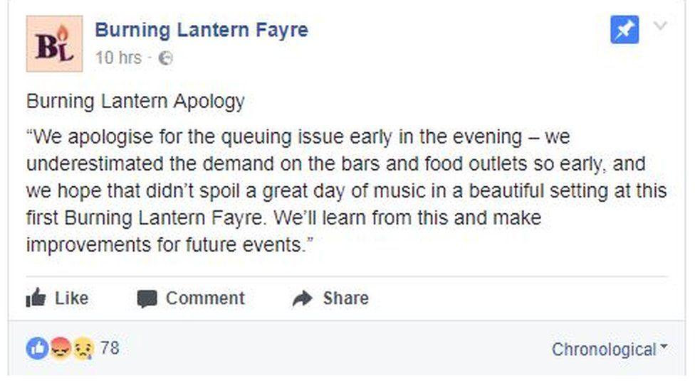 Burning Lantern's apology